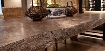 Concrete Countertop Mimics Reclaimed Wood | Faux Bois Wood | JM Lifestyles.  Randolph, NJ