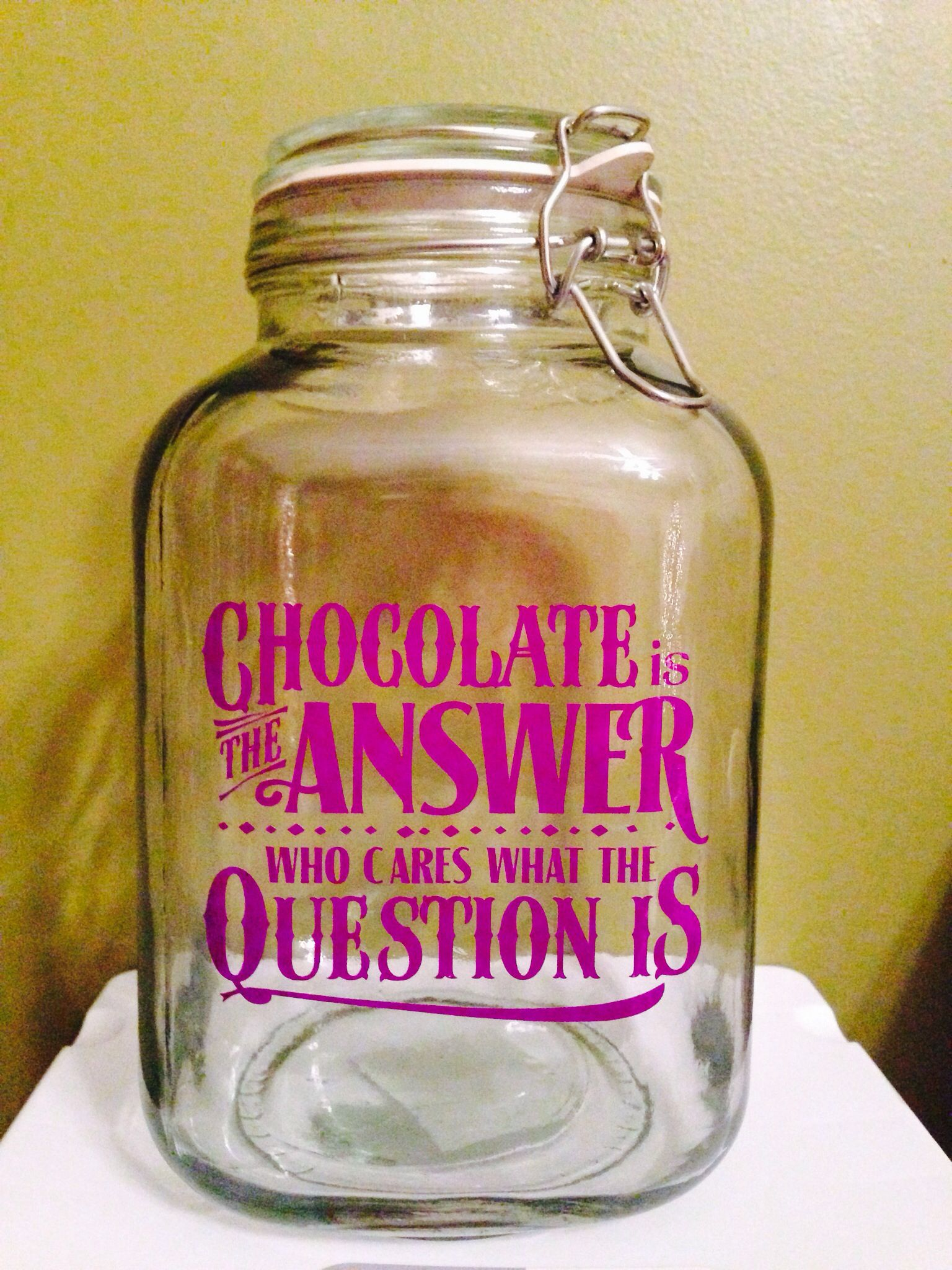 Pin By Holly Shrell On Vinyl Projects Vinyl Gifts Candy Quotes Personalized Candy Jars