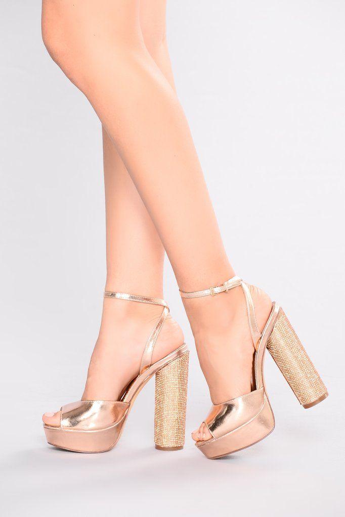 Dazzling Diva Heel - Rose Gold