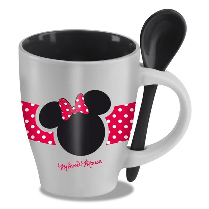 Préférence Disney - Mug avec cuillère Minnie | Minnie mouse, Mice and Cups ZC05