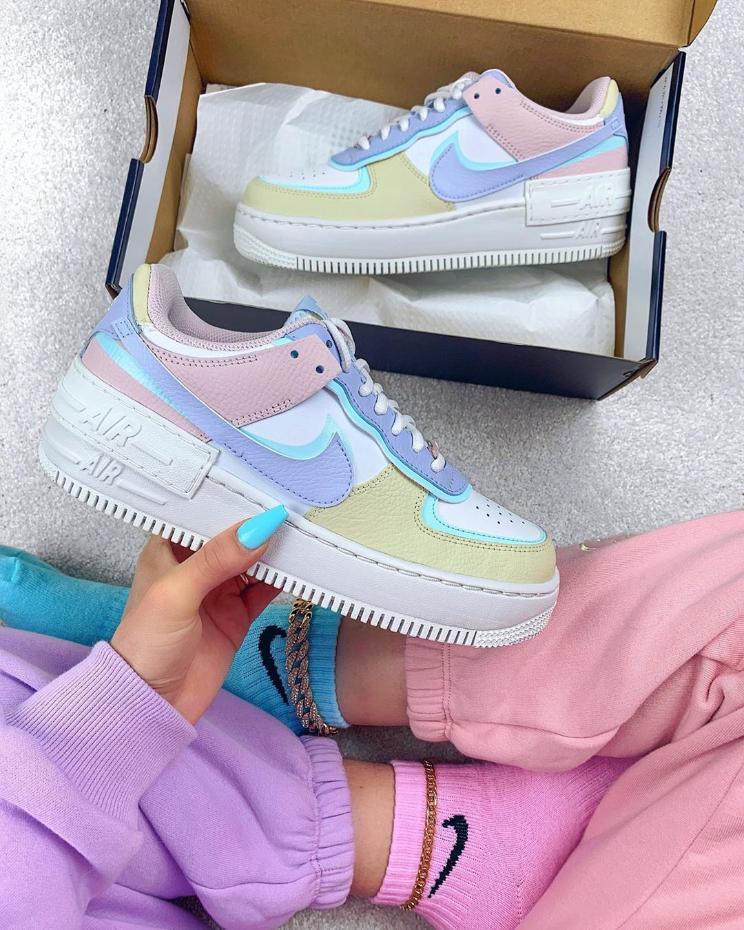 air force 1 femme shadow pastel