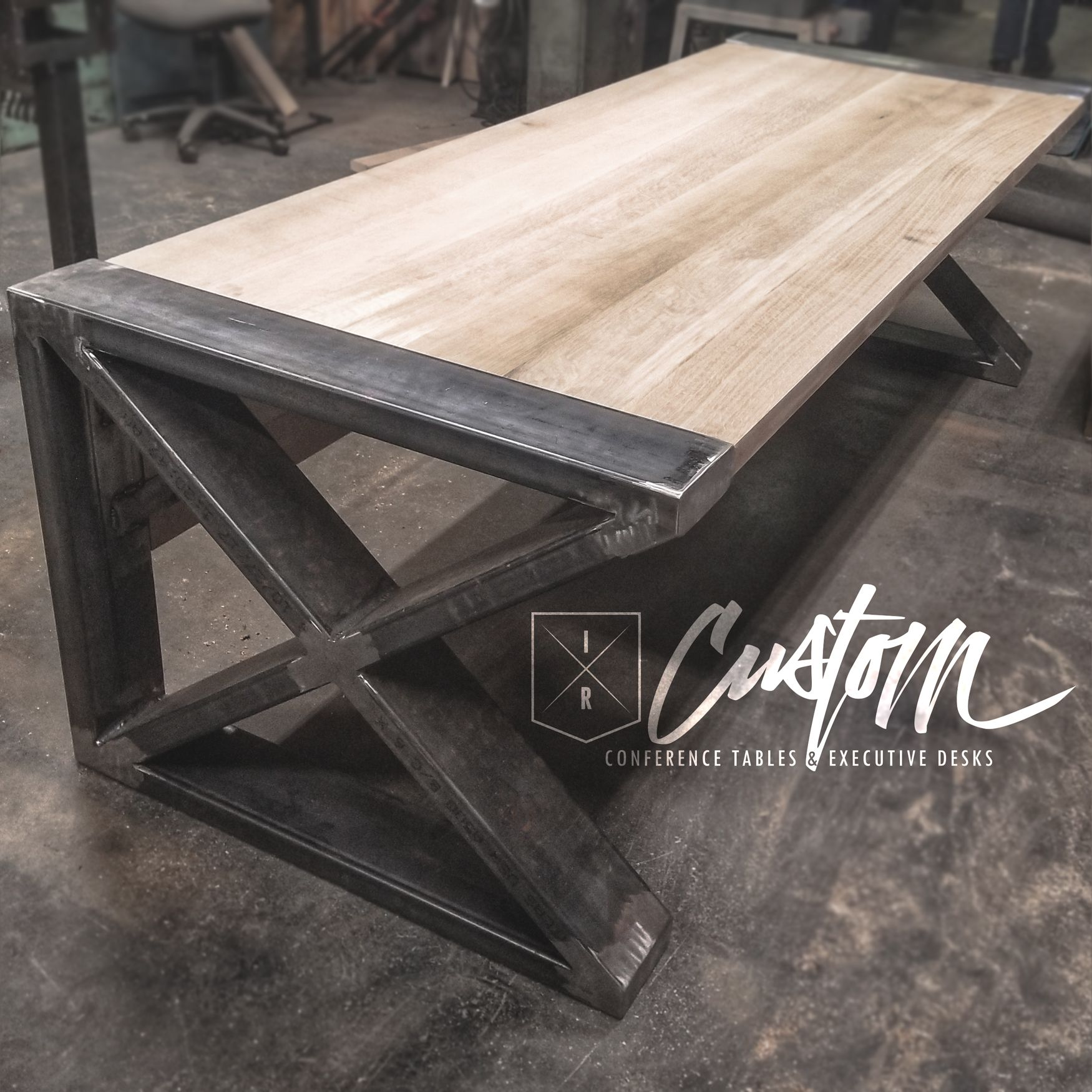 Massive Custom Desk IRcustomcom  PieCe oF  Pinterest
