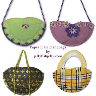 Paper Plate Purses. They can paint and decorate their purse to their hearts desire. It only takes two paper plates and a stapler.  sc 1 st  Pinterest & 34 Amazing Paper Plate Crafts for Kids! | Pinterest | Paper plate ...