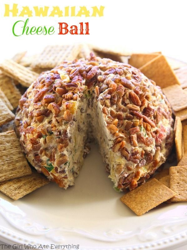 Cheese Ball Hawaiian Cheese Ball - a cream cheese ball with crushed pineapple, green onions, and bell pepper. This is such a crowd pleaser. the-girl-who-ate-Hawaiian Cheese Ball - a cream cheese ball with crushed pineapple, green onions, and bell pepper. This is such a crowd pleaser. the-girl-who-ate-