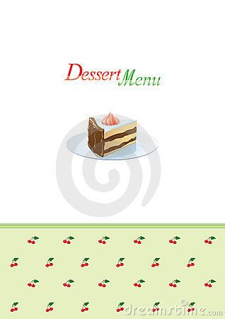 Dessert Menu Template Royalty Free Stock Photos Image 6727548   Dessert  Menu Template  Dessert Menu Template