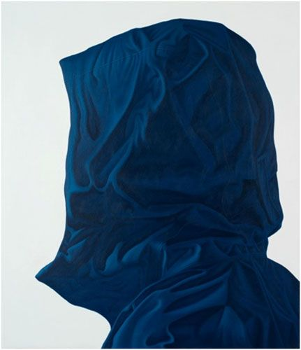 "Karel Funk, Untitled #54, 2012, Acrylique sur bois / Acrylic on wood, 28.5"" x 25"