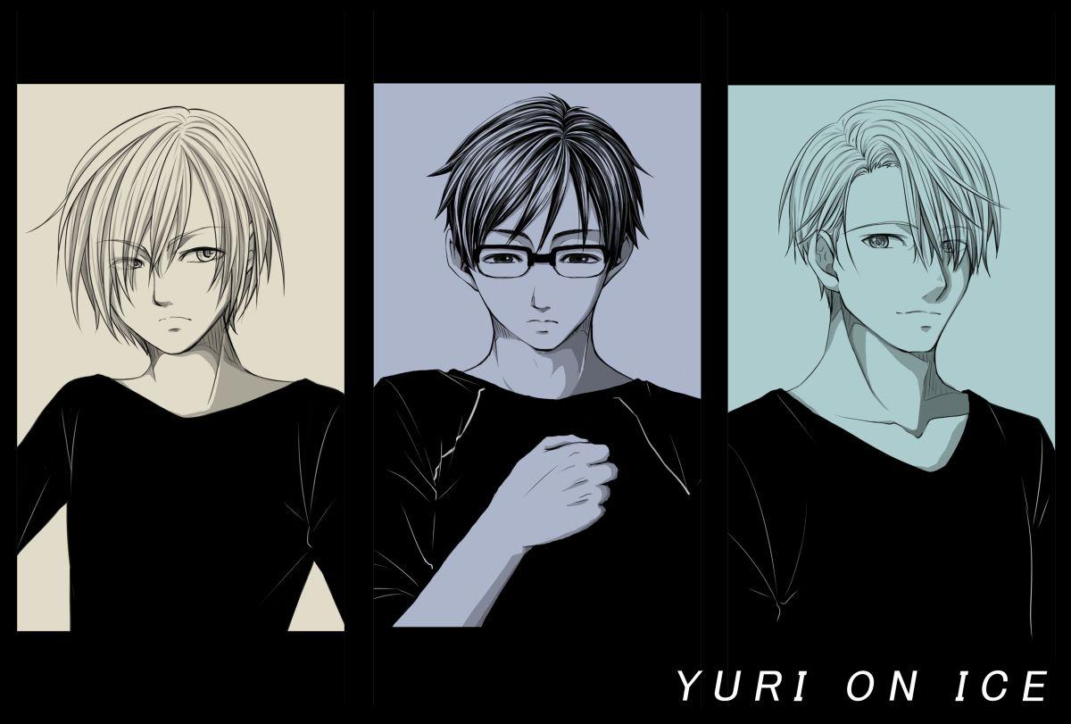 Yuri, Yuuri, and Victor - Yuri!!! on Ice by 榛奈 on pixiv (id: 14394410)