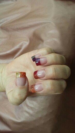 Winter fade nails.