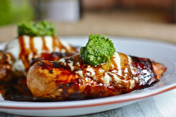 I am a strong believer in balsamic vinegar. Drizzle it over some grilled chicken with pesto for a delicious dinner