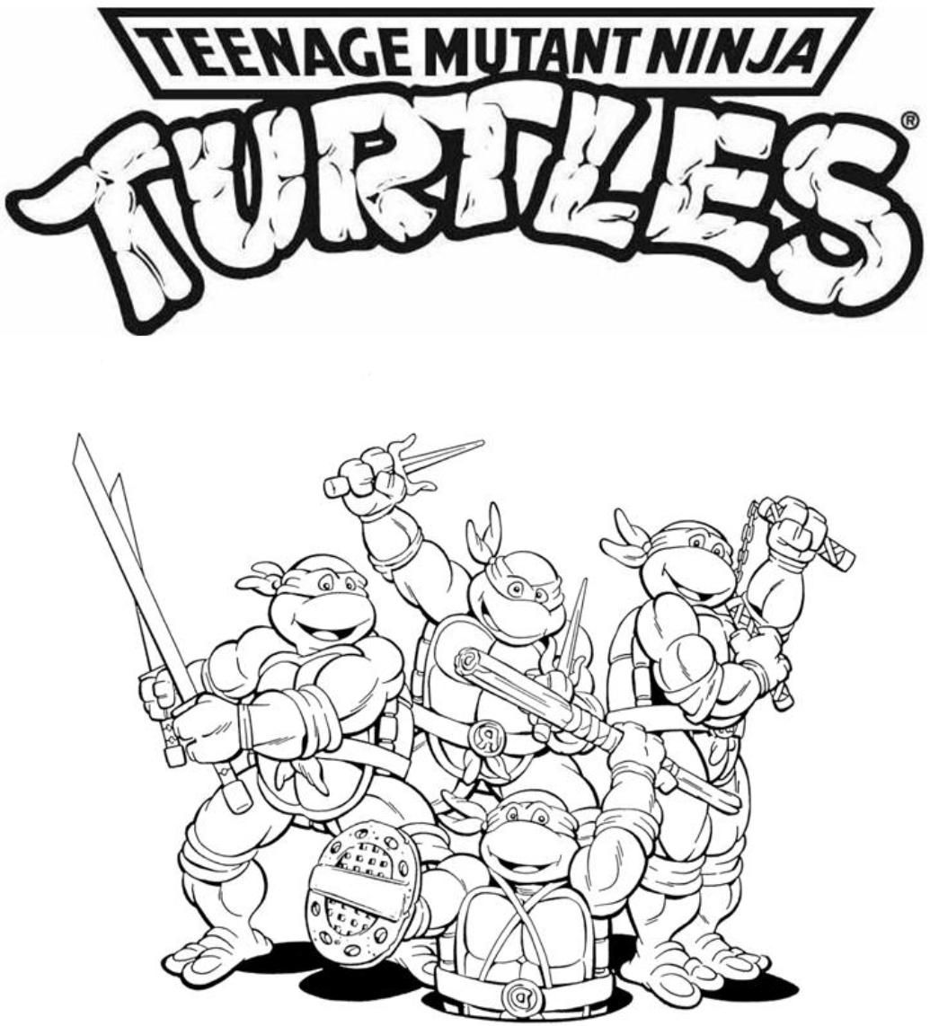 Pizza lessons and a pizza coloring page printable - Tmnt Coloring Pages
