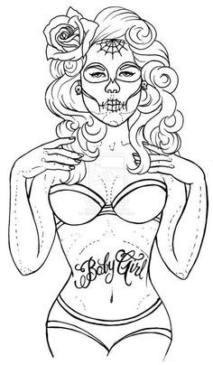 pin up girl coloring pages - Bing Images | My Posh Picks | Pinterest ...