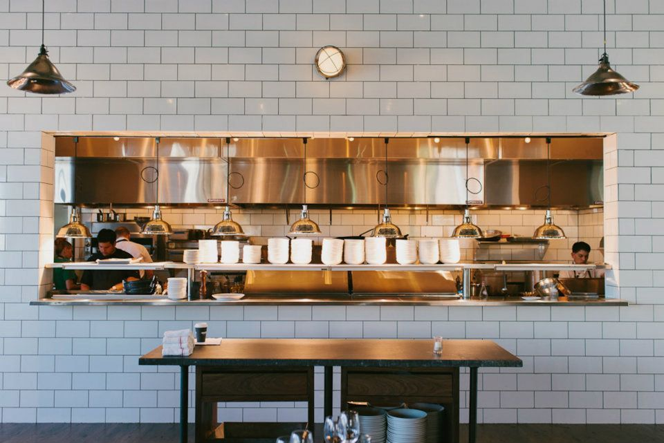 Kitchen close up inside chef ford fry 39 s atlanta kitchens - Commercial kitchen lighting design ...