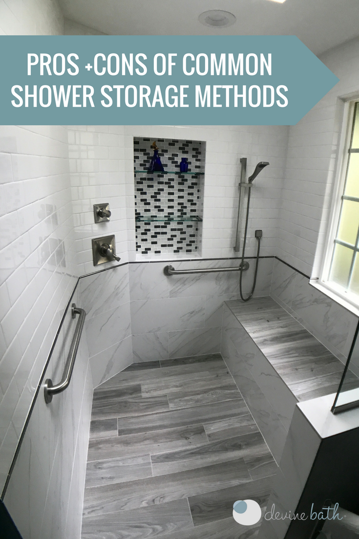 What good is a beautiful shower if you have nowhere to store your ...
