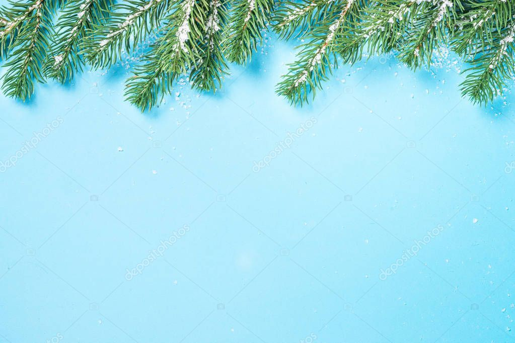 Christmas Fir Tree Branch On Blue Background Stock Photo Sponsored Tree Branch Christmas Fir Ad Tree Branches Fir Tree Christmas Background