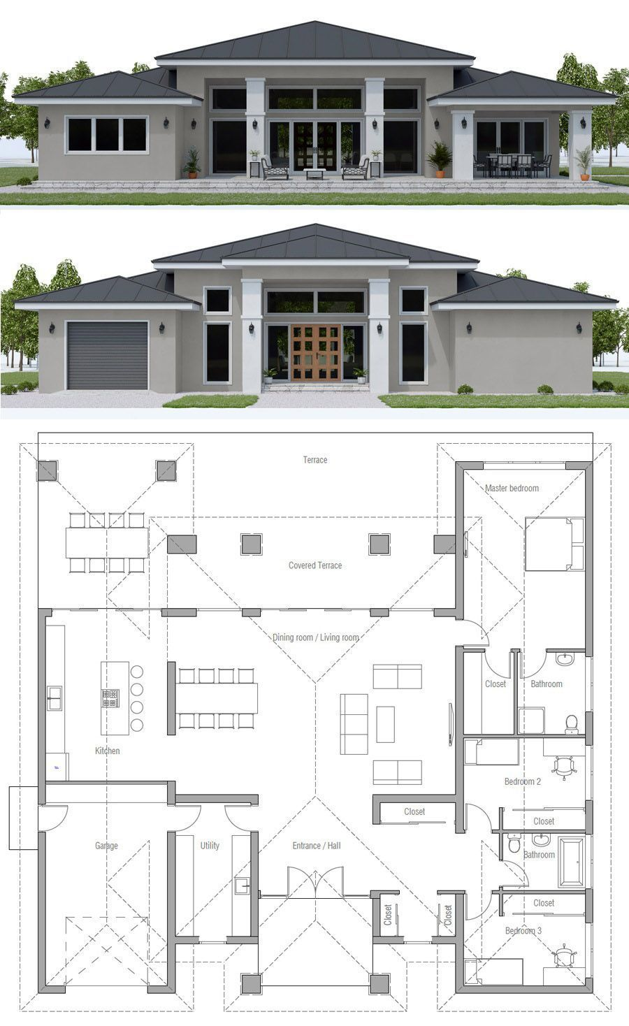 House Plan Ch569 Arquitectonico House Plan Home Plan Floor Plan Architecture Architecture In 2020 House Plan Gallery New House Plans Architectural House Plans