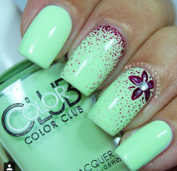 Lime green   nailsJR   Pinterest   Uñas fashion, Arte uñas y Uñas lindas