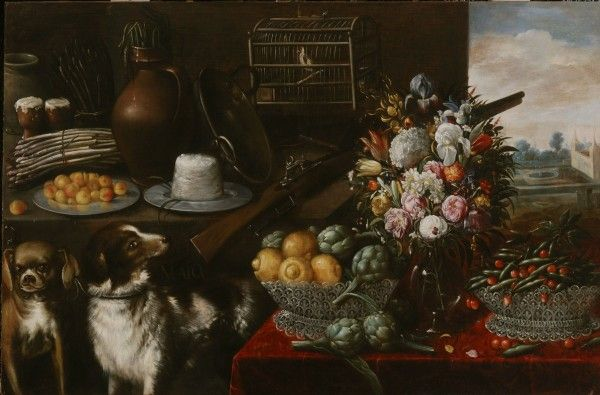 Francisco Barrera, May (still life with fruit, vegetables and flowers)