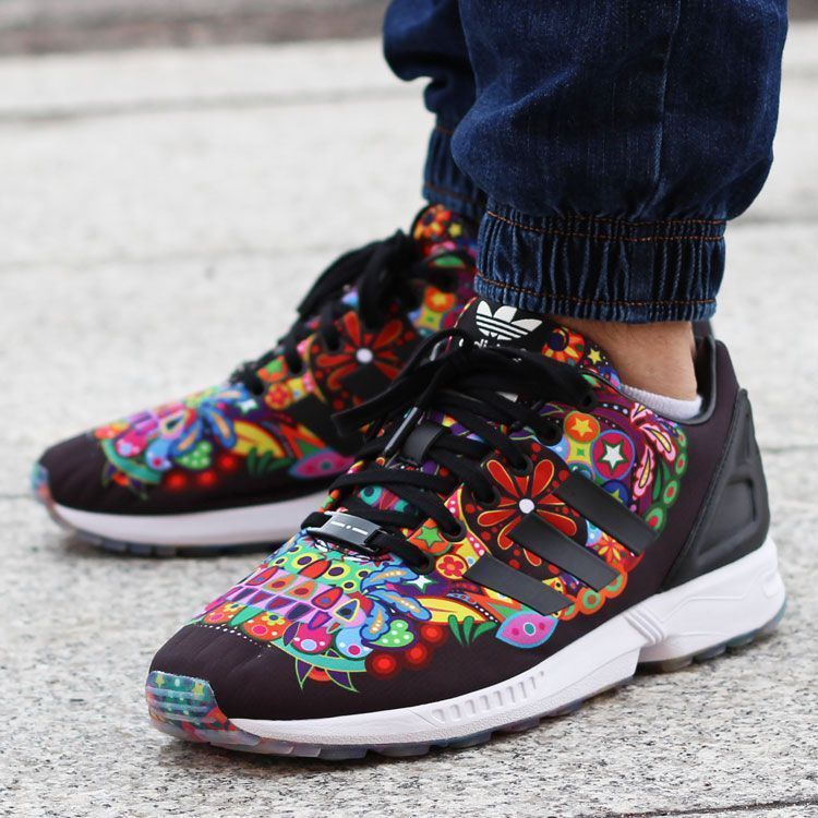 best service 7e1c5 44f59 ADIDAS ORIGINALS TORSION ZX FLUX BLACK MULTICOLOR AQ5460