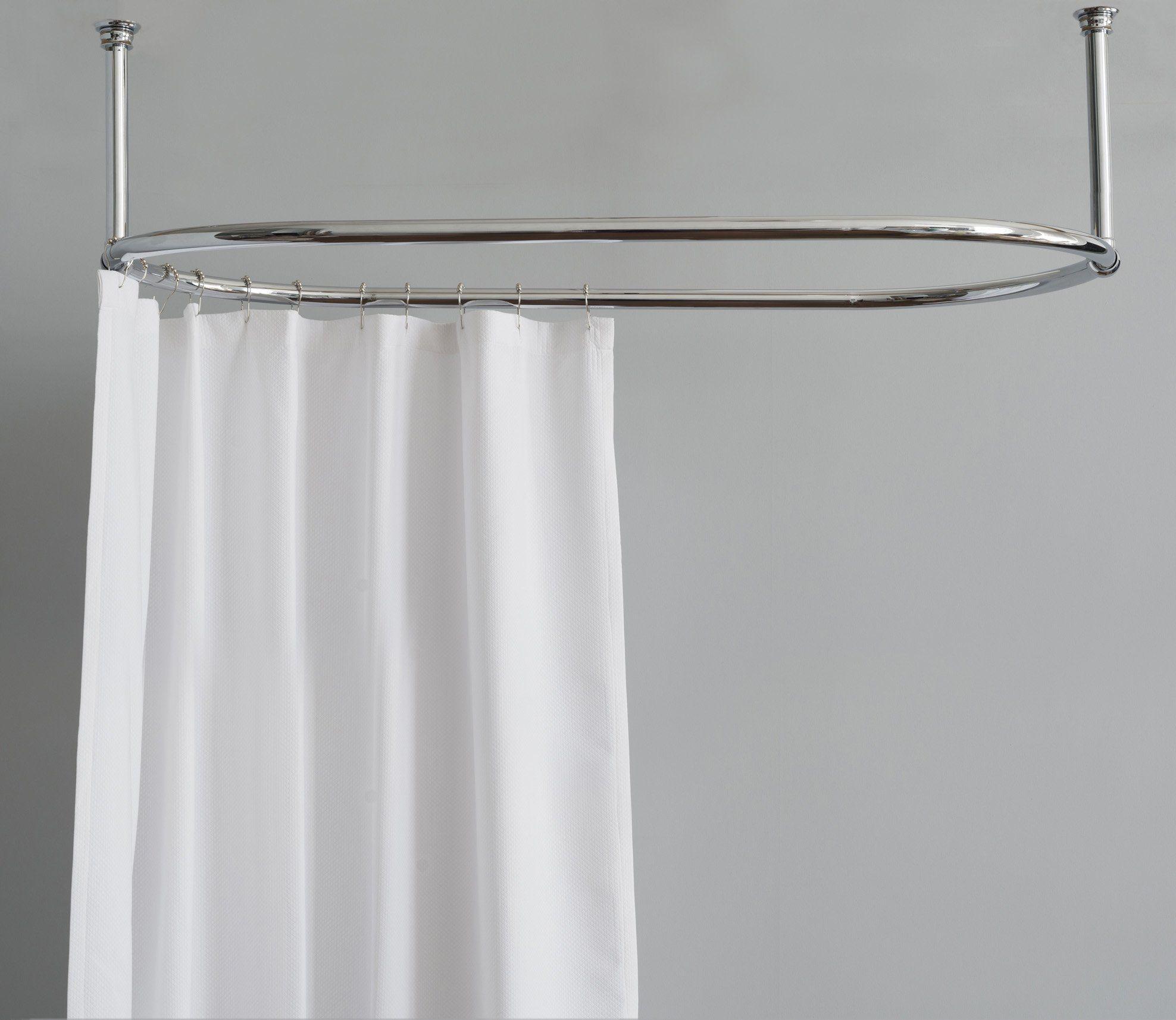 Shower Curtain Rail Oval Shower Curtain Curtain Rails Coral