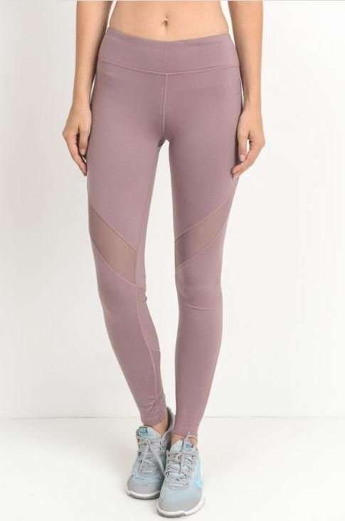 5bf73f1ab6073f Ankle Length Mauve Mesh Cut Out Yoga Legging Manufacture: Mono B Material:  88% Polyester,12% Spandex Fit: As Expected Size Chart: