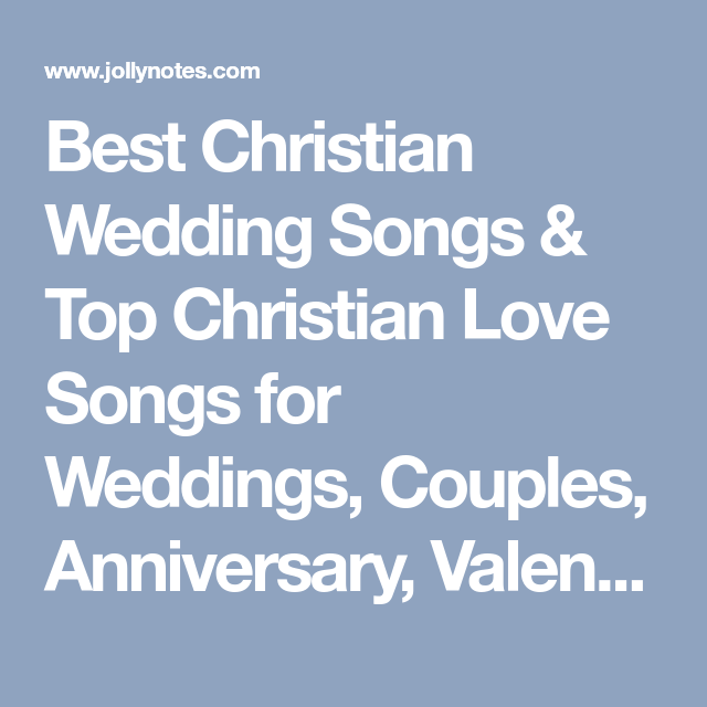 Christian wedding anniversary songs