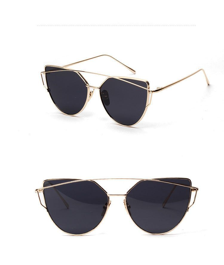 Vintage Style Over Sized Cat Eye Sunglasses with Mirror Coating UV400 7fad1eb2eec9