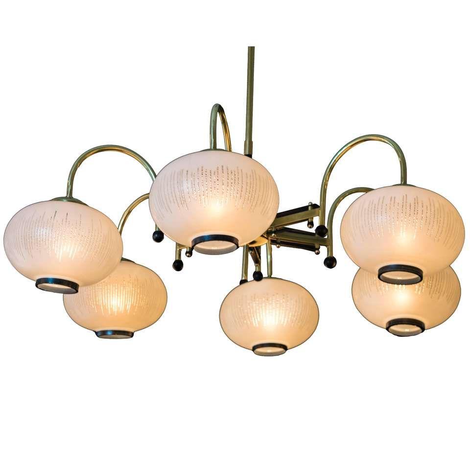 Italian chandelier style chandelier gallery large eight arm italian modernist brass diabolo chandelier stilnovo arubaitofo Choice Image