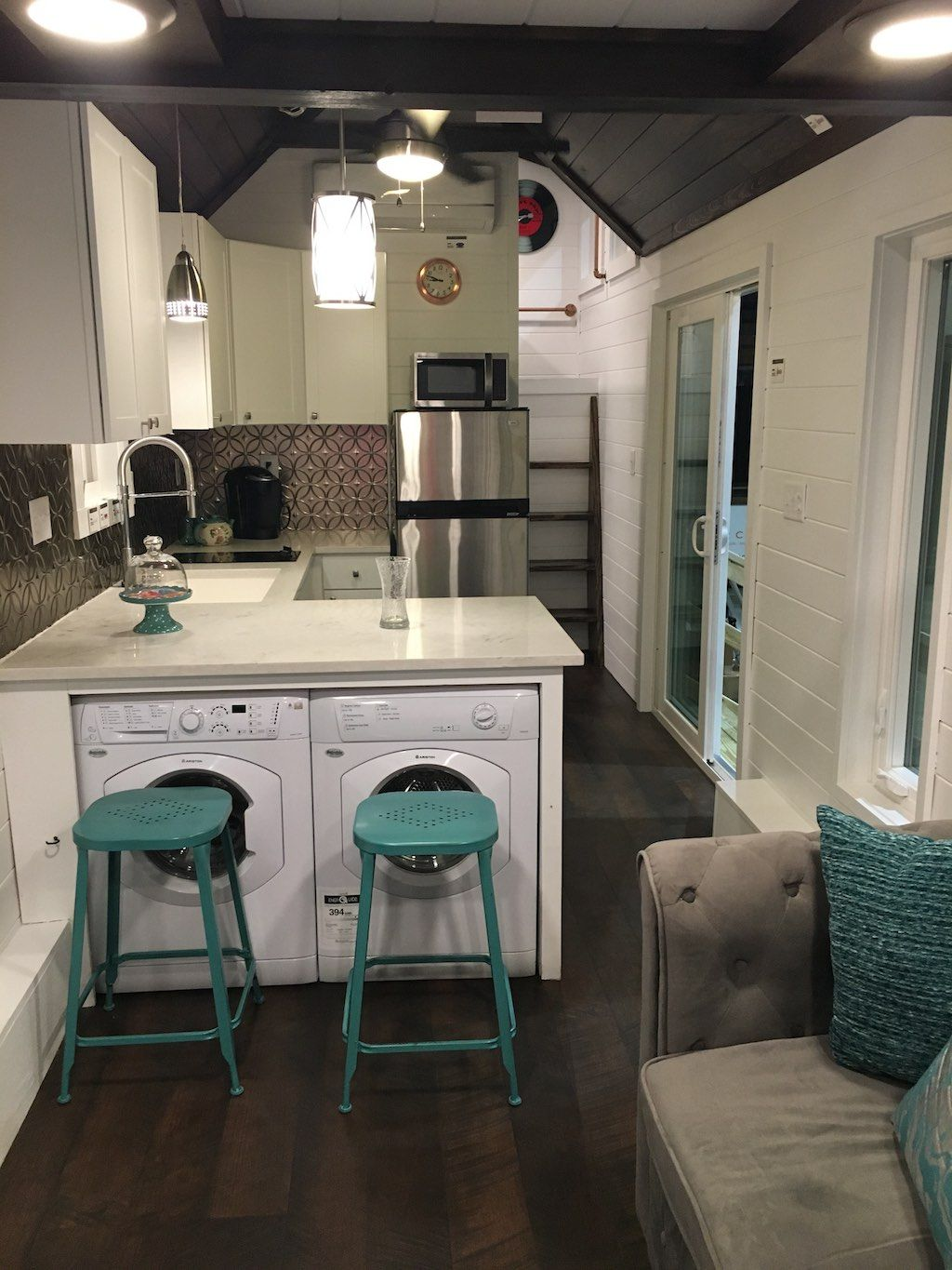 Trinity  dual loft two bedroom tiny house built by alabama homes in gardendale swoon also pinterest living and rh