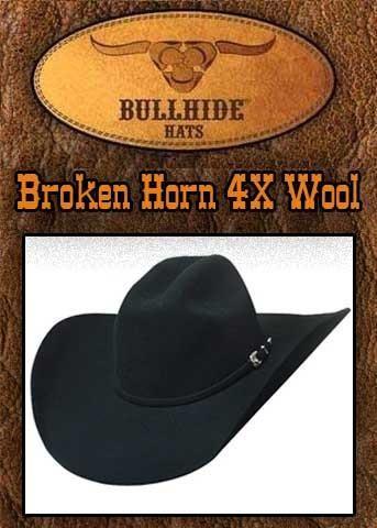 Bullhide Montecarlo Broken 4X Horn Wide Brim Hat- 0666BLBH  20b005911a45