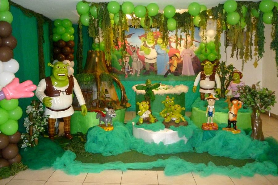 Shrek Theme | Shrek Party Decoration | Tips Kids Party ...