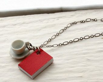 Book jewelry #coffeecup