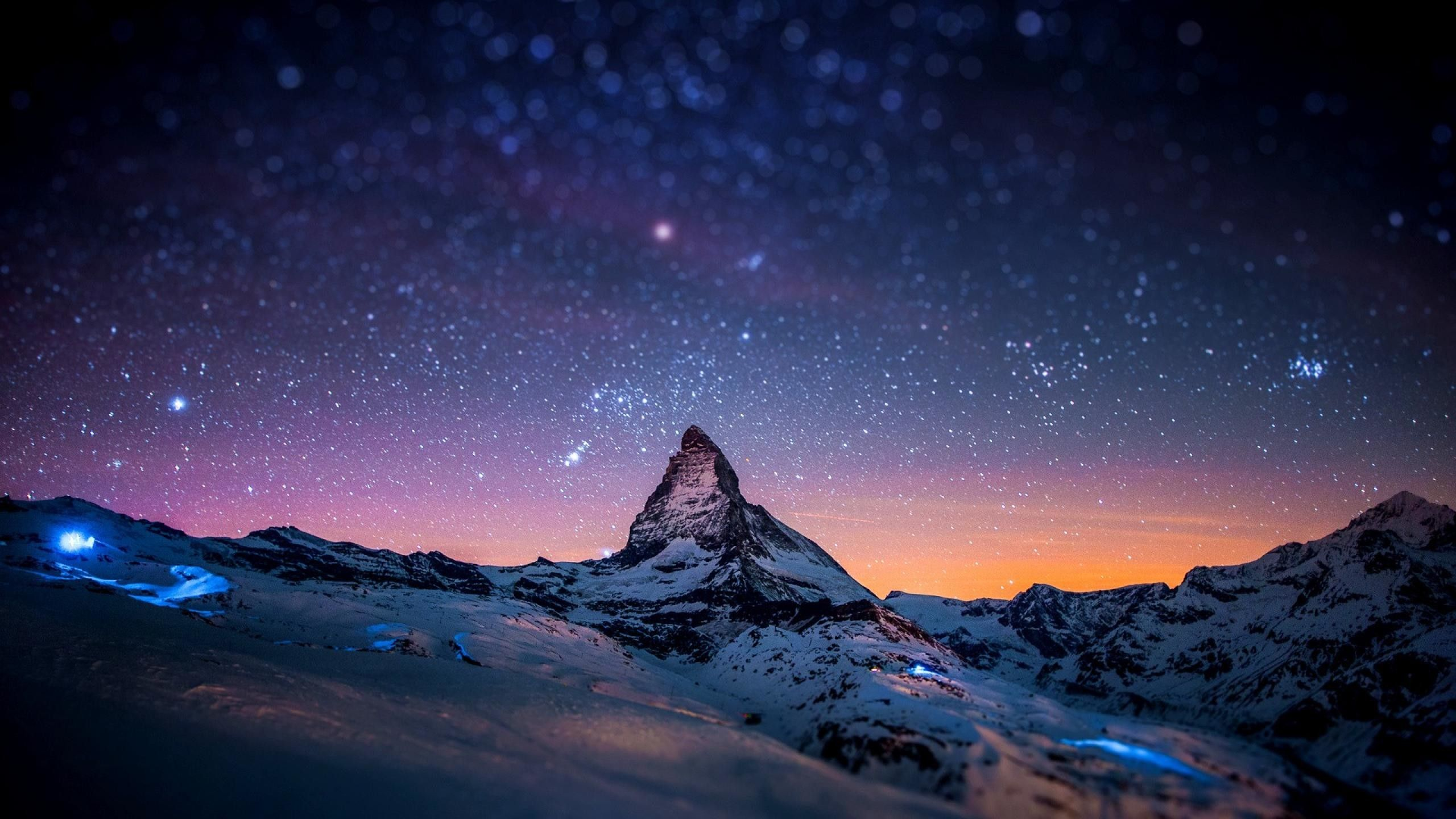 Night View Of Sky Full Of Stars Earth Pictures Matterhorn Mountain Pictures Of The Week