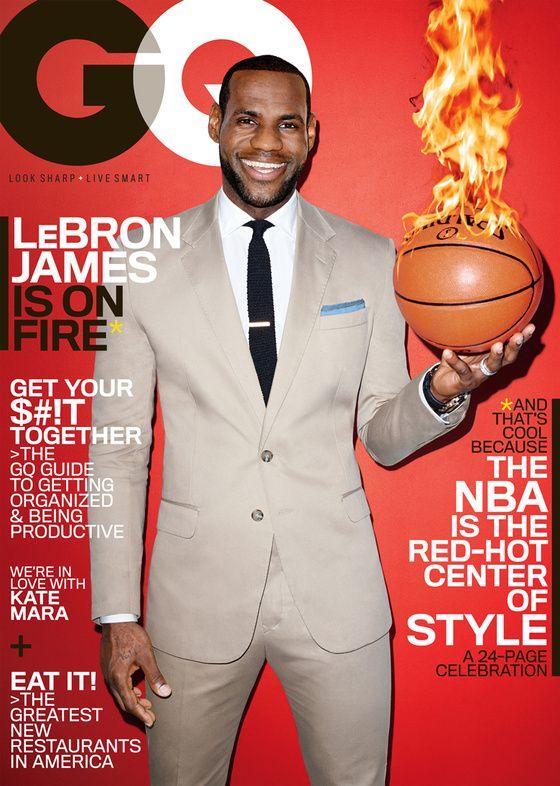 LeBron James en couverture du GQ américain LeBron James, GQ and NBA - fresh nba coloring pages of lebron james