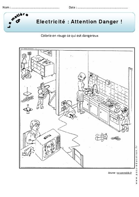 Cliquez pour voir la fiche sciences pinterest fiches for Dangers de l electricite