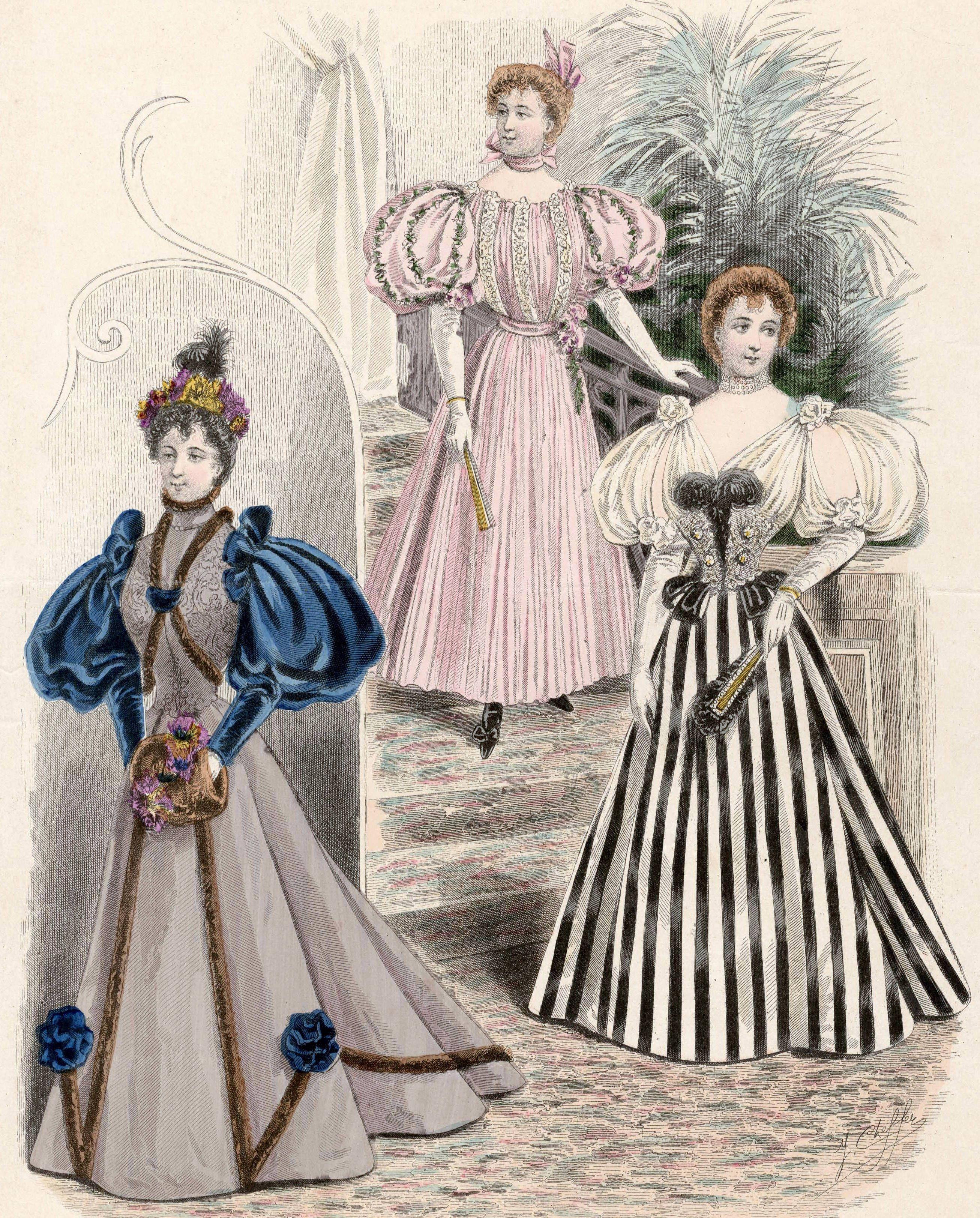 Victorian Fashion ~ 1893 to 1896   Modezeichnungen ...