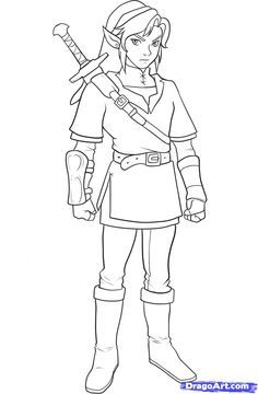 zelda coloring pages google search - Zelda Coloring Pages