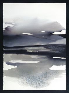 Contemporary Watercolour Abstract Landscape Original Painting