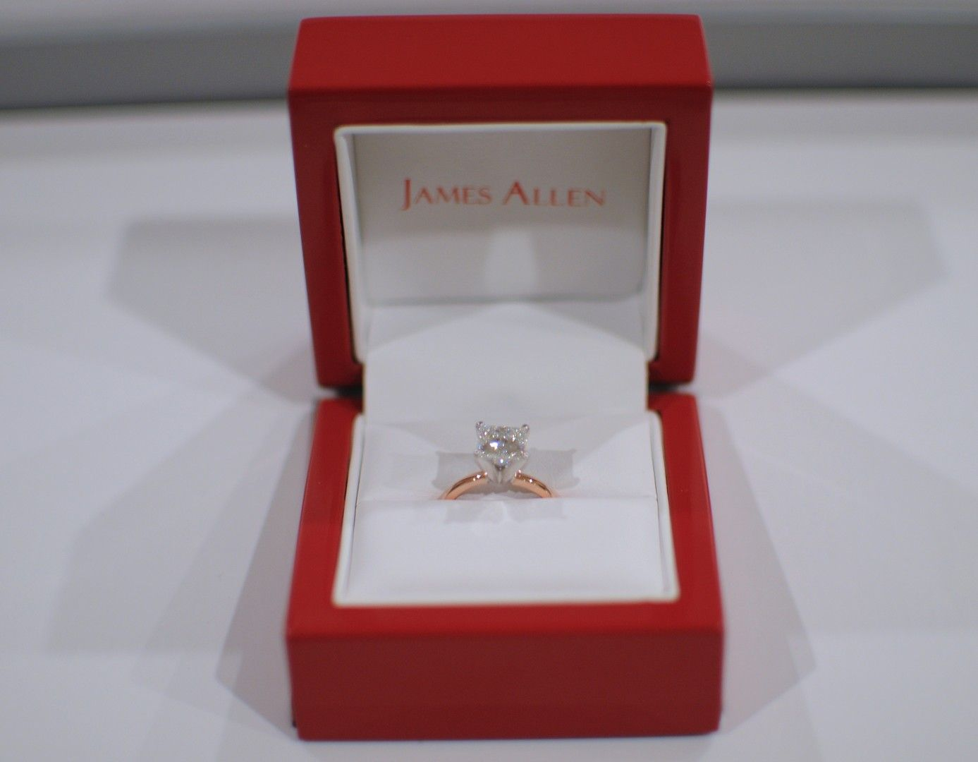 14k Rose Gold 2mmfort Fit Solitaire Engagement Ring