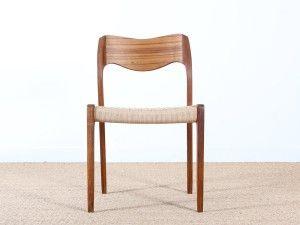 Suite De 4 Chaises En Teck Model 71 Chaise Teck Chaise Danoise Chaise