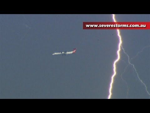 Nice Weather Videos Aircraft Dodge Lightning Bolts After Severe Hits Sydney Australia