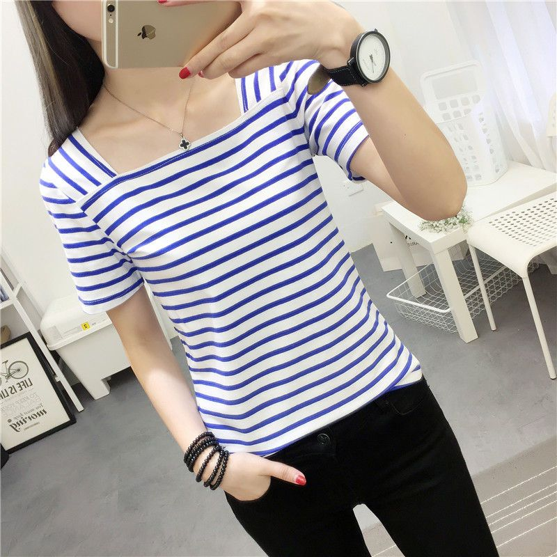 Buy Ukiyo Short-Sleeve Striped T-Shirt at YesStyle.com! Quality products at remarkable prices. FREE Worldwide Shipping available!