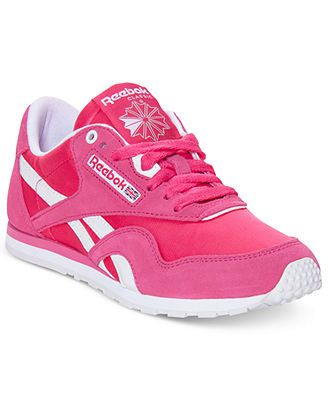 -20$ от MSRP Reebok Women's Classic Nylon Slim Monocolor Casual Sneakers from Finish Line