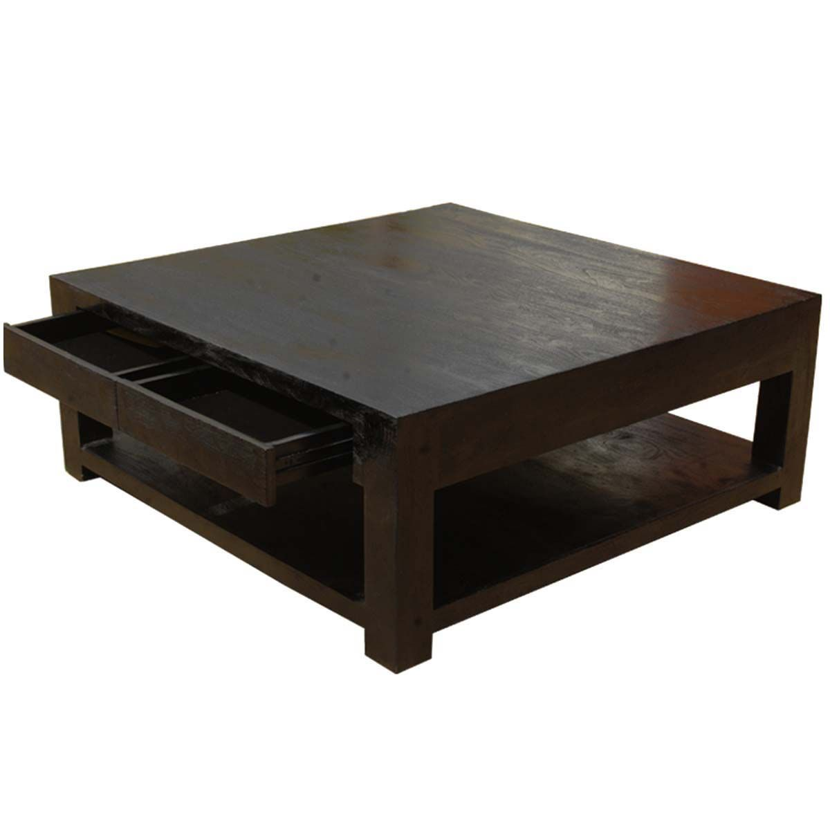 Large Rosewood Classic Square Espresso Coffee Table Large Square