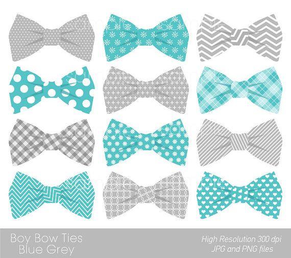 Bow Ties Clipart Bowtie Clip Art Aqua Blue Grey Solo Para Uso Personal Baby Clip Art Clip Art Digital Clip Art