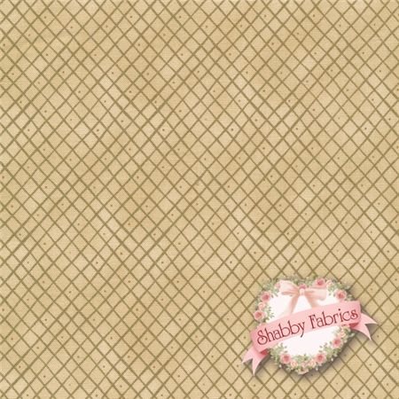 "12 Days of Christmas 7893-44 By Anni Downs For Henry Glass: 12 Days of Christmas is a holiday collection by Anni Downs of Hatched & Patched for Henry Glass Co.  100% cotton.  43/44"" wide.  This fabric features a tonal lattice in tan."