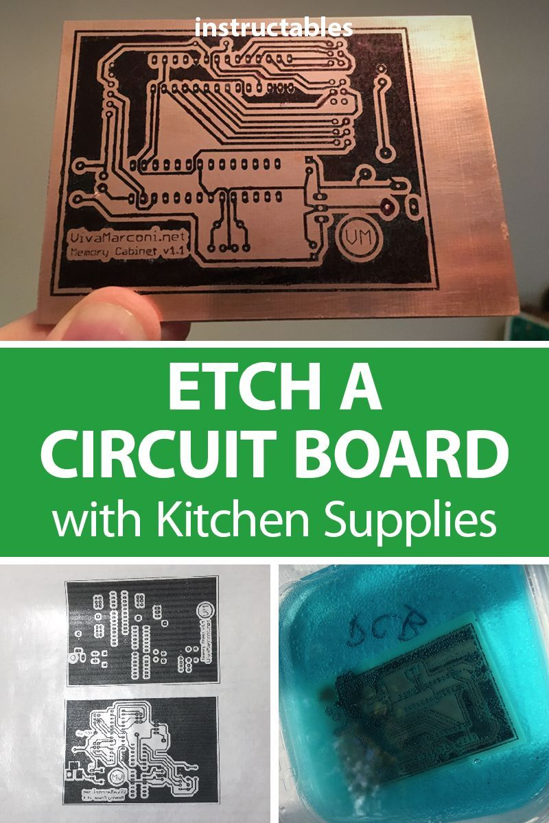 Etch A Circuit Board With Kitchen Supplies Electronics Projects Etching Boards You Can Find In Your No Nasty Chemicals Required Pcb Printedcircuitboard Arduino