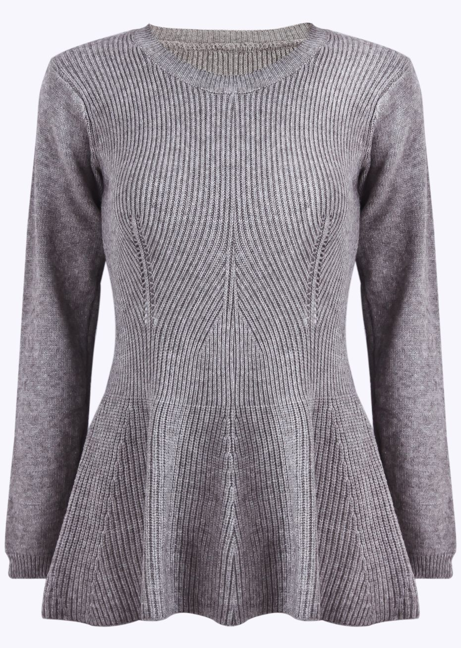 260ca5c7884fae SheIn offers Grey Long Sleeve Vintage Ruffle Knit Sweater   more to fit  your fashionable needs.