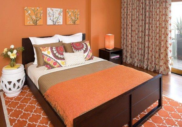 Fall Bedroom Orange Colors Decoist Bedroom Orange Master Bedroom Colors Bedroom Wall Colors Modern orange bedroom ideas