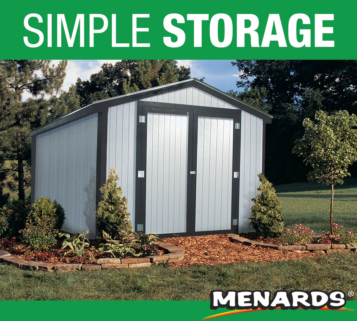 The Ez Build 10 X 10 Gable Storage Building Is A Great Addition To Your Backyard Both In Style And Function This Storage Outdoor Storage Sheds Outdoor Shed