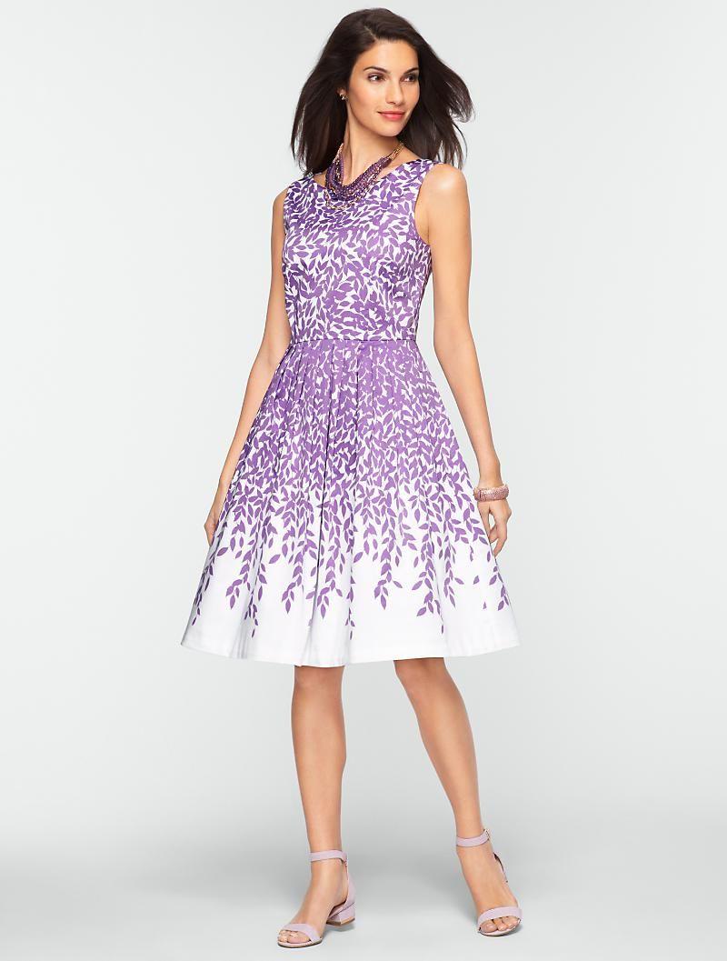 Talbots dresses for weddings  Talbots  LeafPrint Dress  Dresses  Petites  FASHION  Pinterest